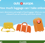 Infographic - Hand luggage limits