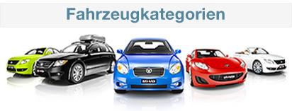 Auto Europe Mietwagen Kategorien Übersicht