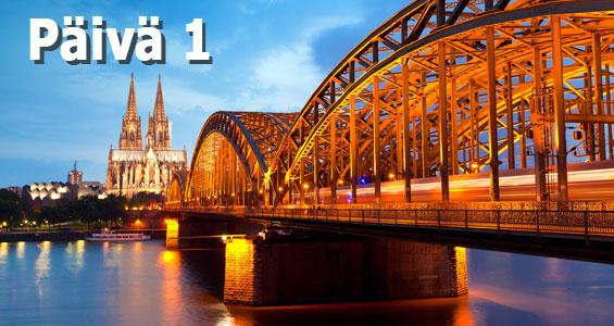 1000 km autobahn kiertomatka päivä 1 Köln