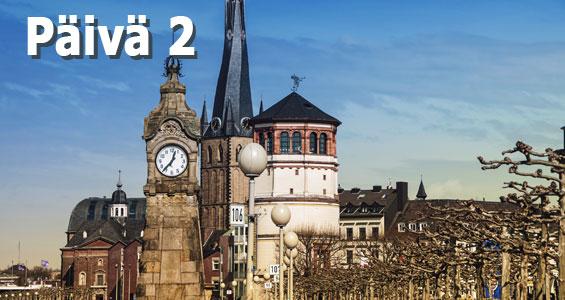 1000 km autobahn kiertomatka päivä 2 Düsseldorf
