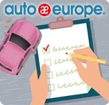 Car rental check list infographic