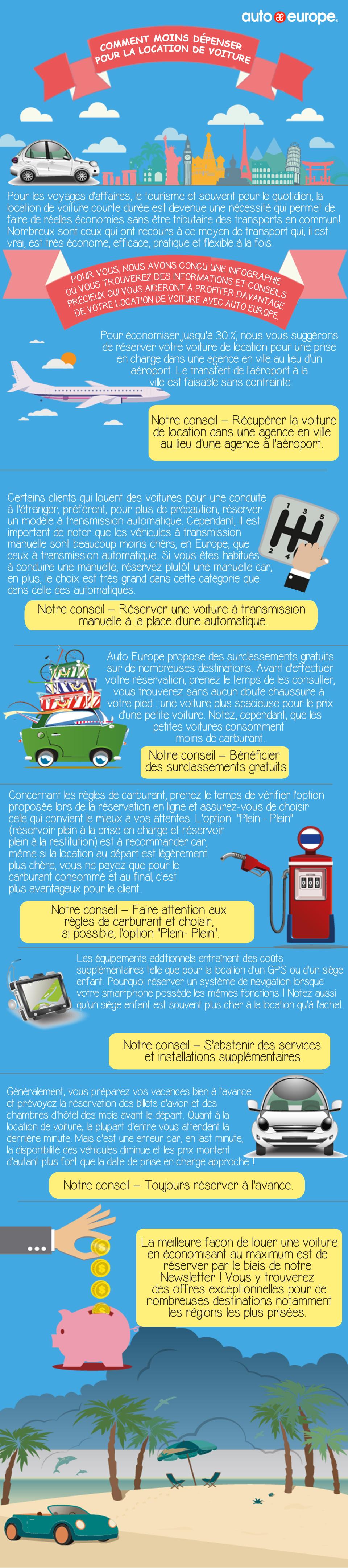 Voitures de location Auto Europe - Infos précieuses pour économiser sur la voiture de location