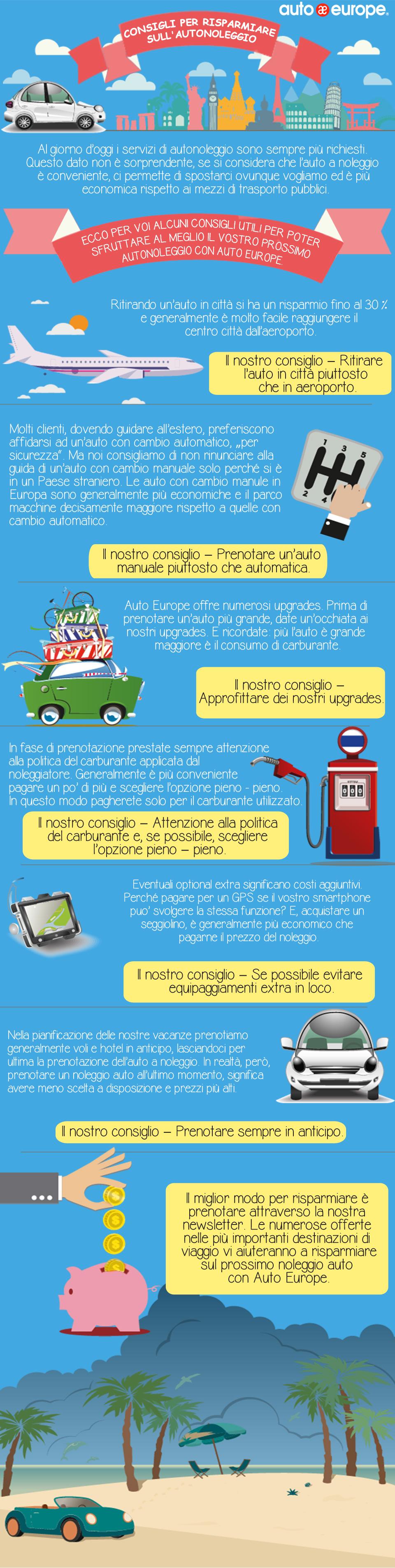 Consigli per risparmiare sull'autonoleggio
