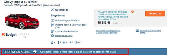 Auto Europe Gold Rate Aluguer de carros