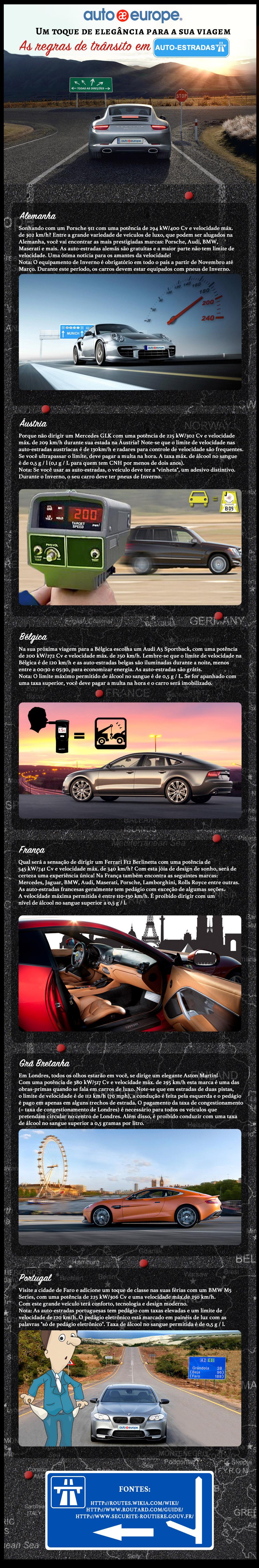 Regras de trânsito nas Auto-Estradas | Auto Europe