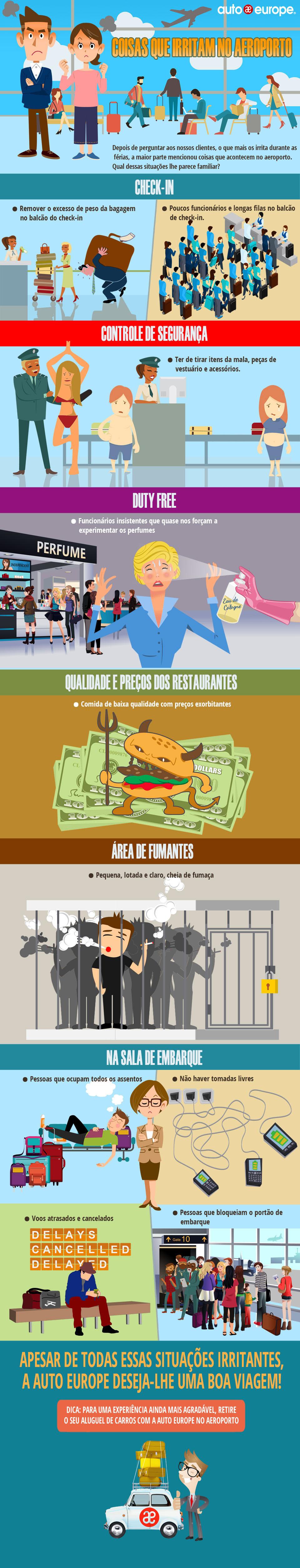 Coisas que irritam no Aeroporto | Auto Europe