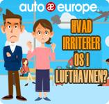 Hvad irriterer os i lufthavnen | Infografik Auto Europe