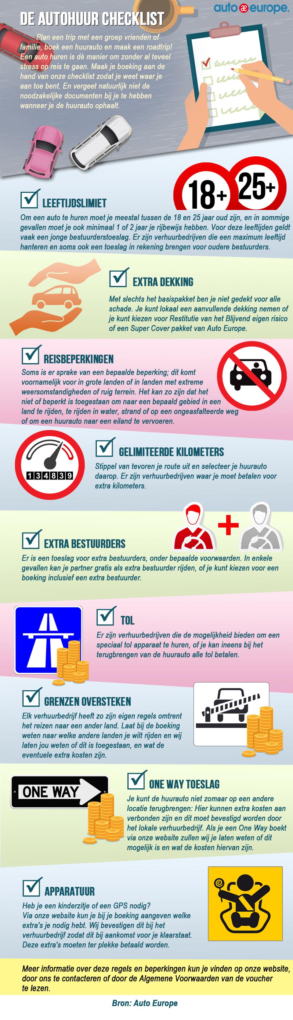 Checklist autohuur