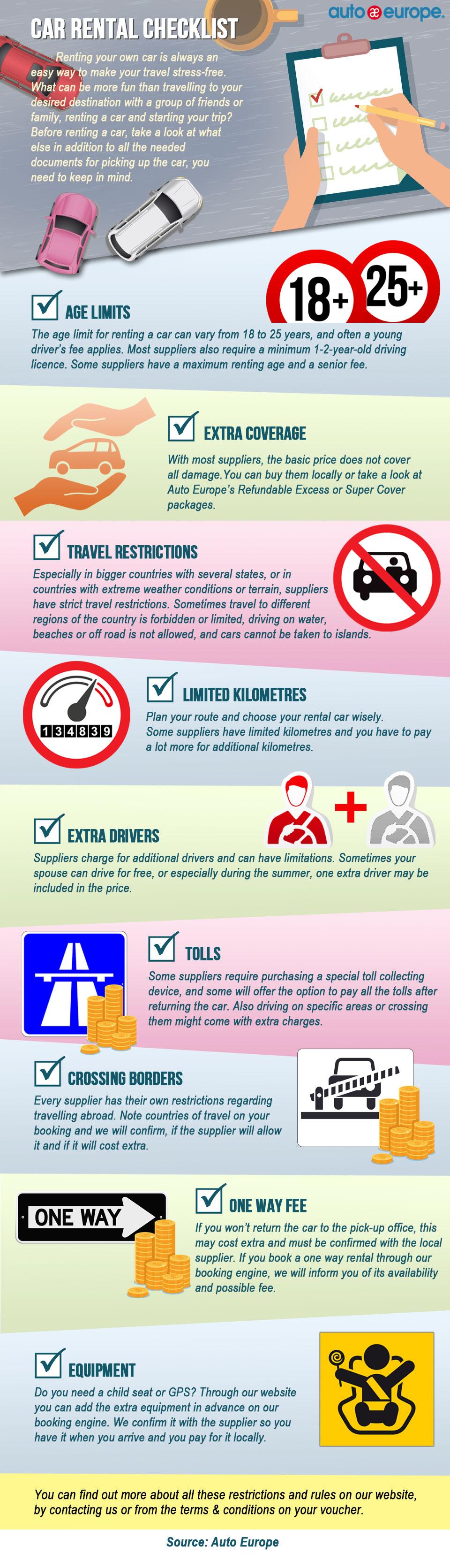 Car HireChecklist Infographic