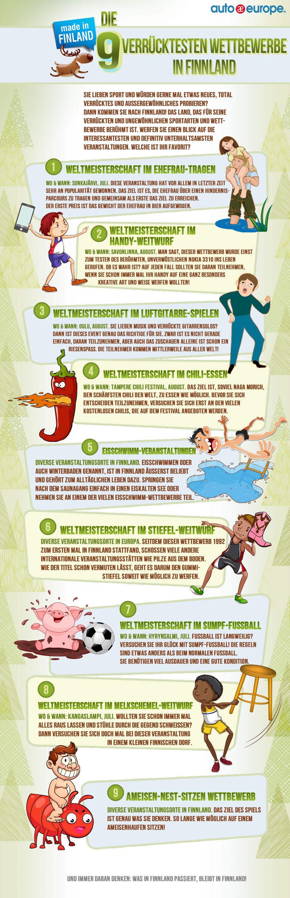 Die 9 verrücktesten Wettbewerbe in Finnland