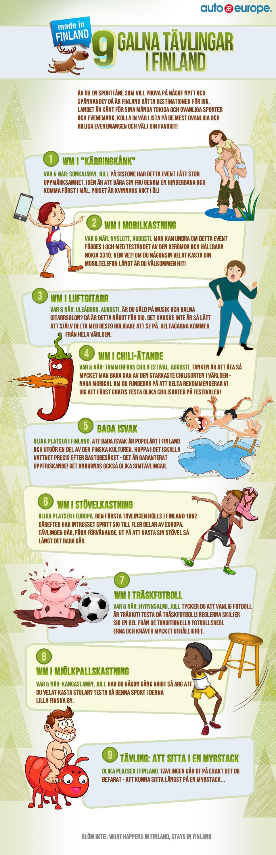 Infografik: 9 galna tävlingar i Finland