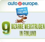 Infographic - 9 bizarre wedstrijden in Finland