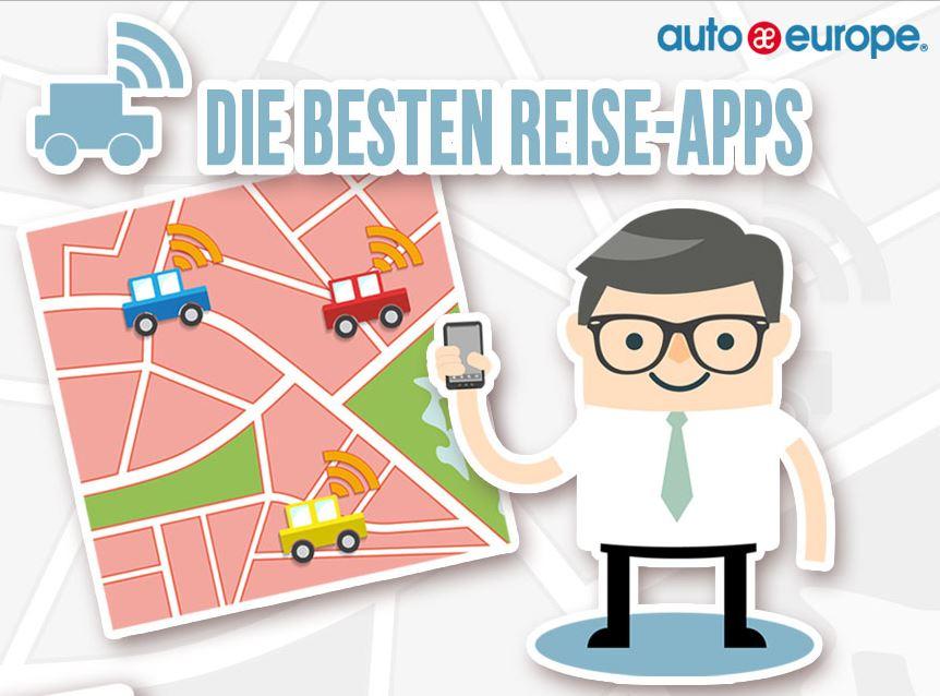 Infografik - Die besten Reise-Apps