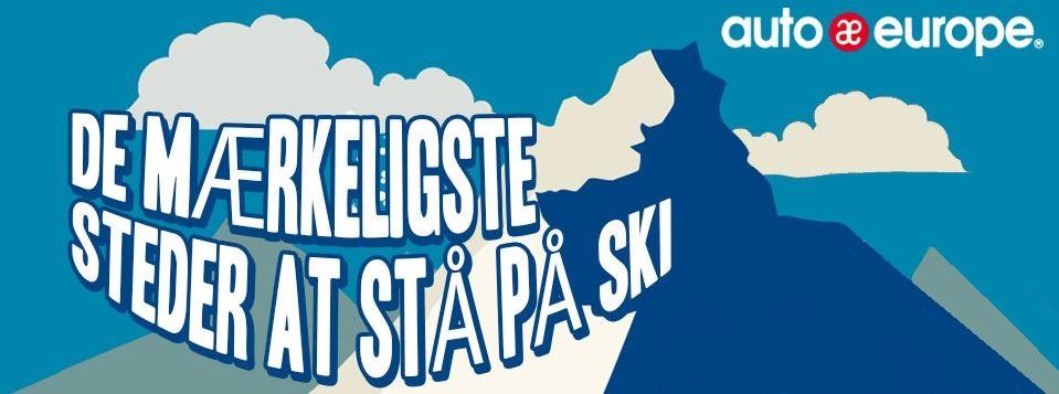 Infografik: Mærkelige steder at stå på ski