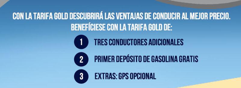 Resumen tarifa Gold