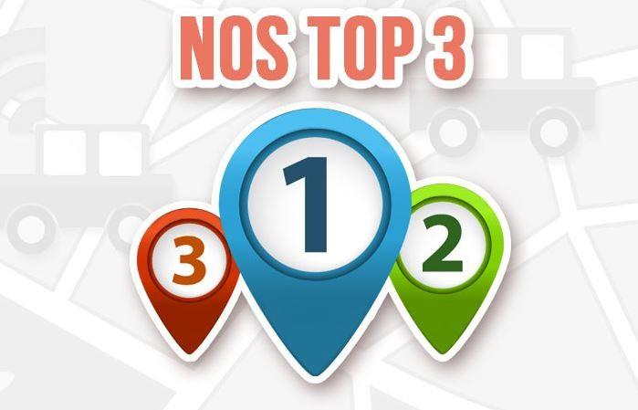 Notre top 3