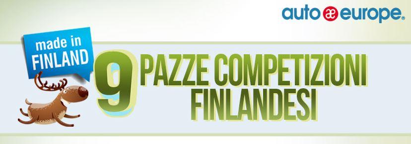 Infografica: 9 pazze competizioni finlandesi