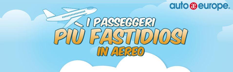 Infografica - I passeggeri più fastidiosi in aereo