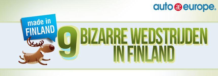 Infographic: 9 bizarre wedstrijden in Finland
