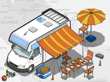 Infográfico: Férias perfeitas com a sua auto-caravana