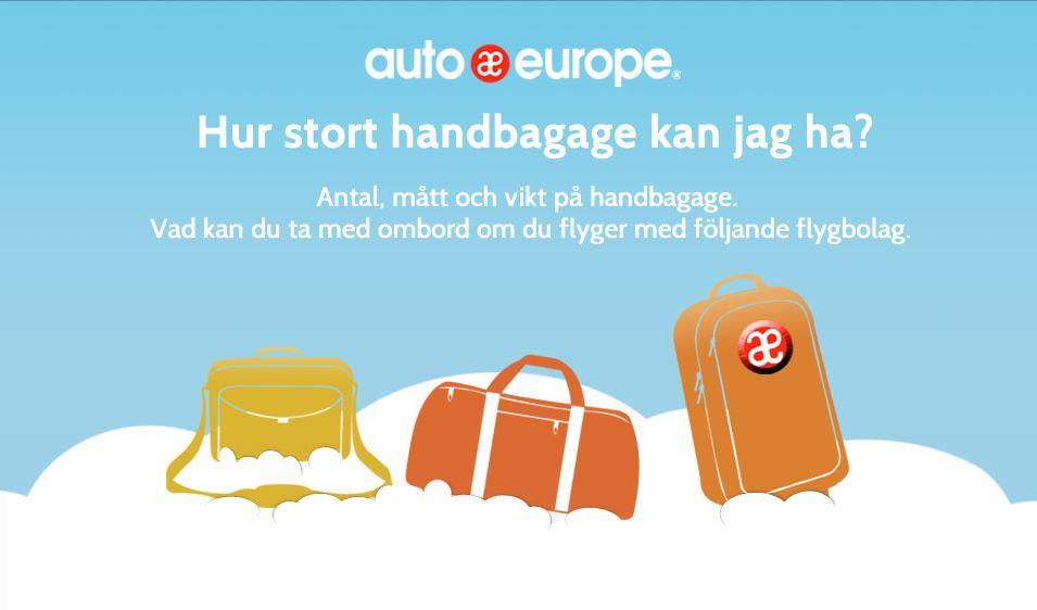Infografik: handbagage regler