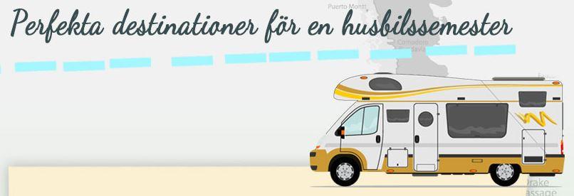 Perfekta destinationer för en husbilssemester