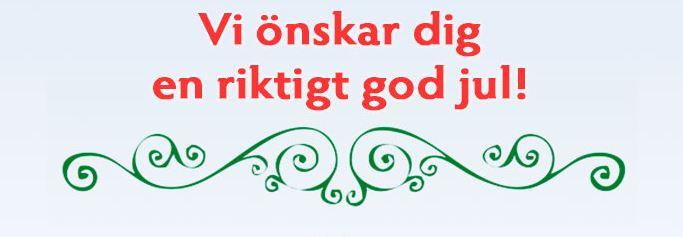 God Jul från Sverige