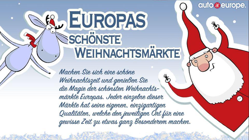 Infografik: Weihnachtsmärkte in Europa