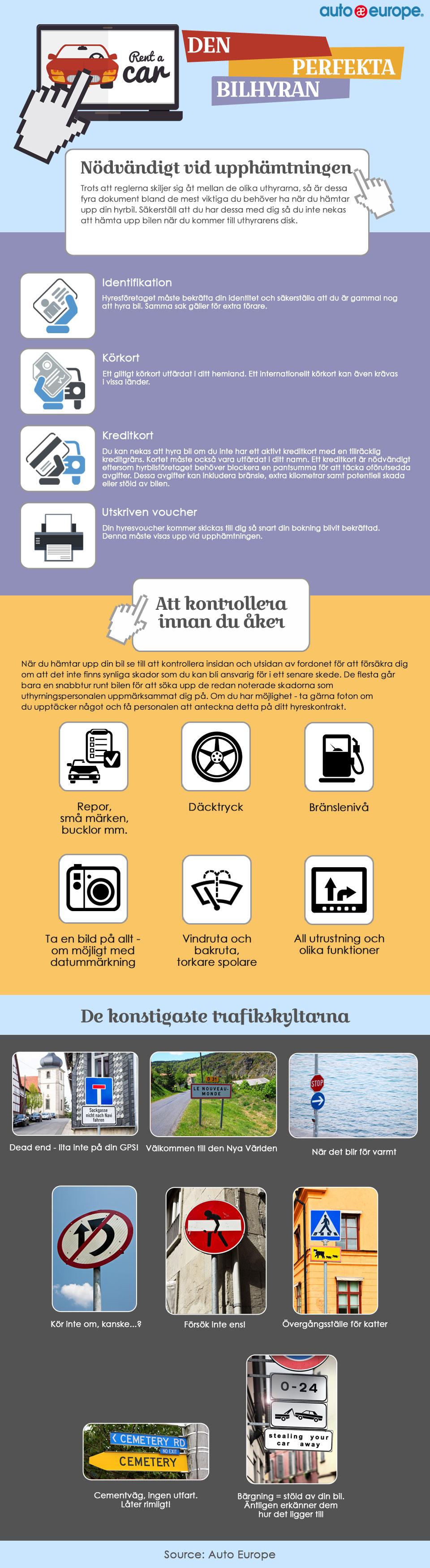 Infografik - den perfekta bilhyran