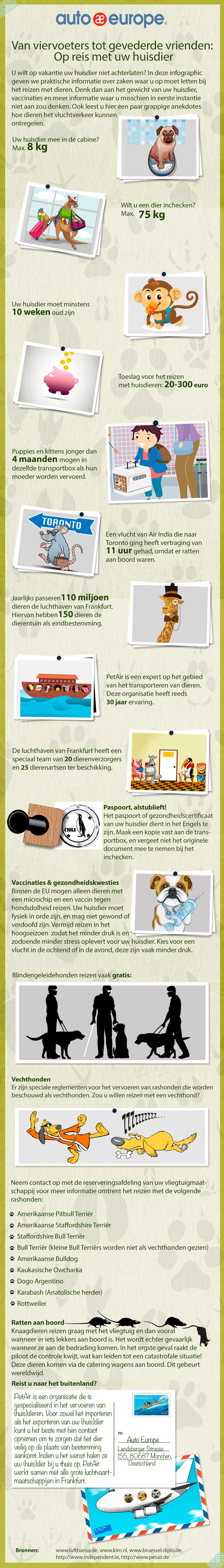 Infographic - Reizen met huisdieren