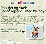 Infografik - Rejs med kæledyr