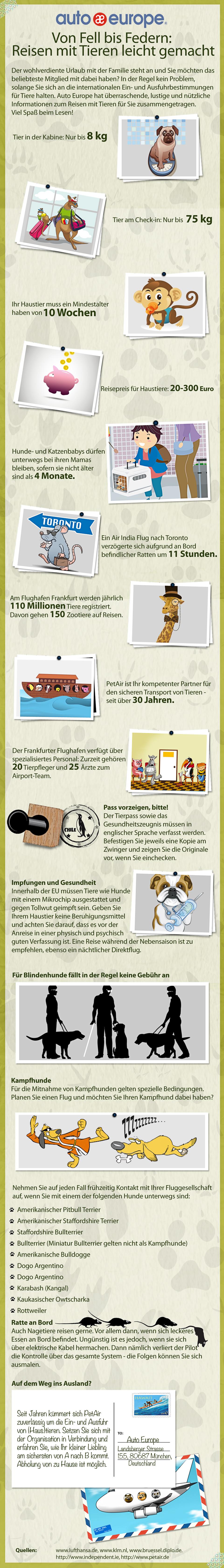 Tipps für Reisen mit Tieren