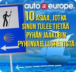 Infografiikka: Pyhän Jaakobin pyhiinvaellusreitti