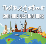 Exotic Destinations A-Z Infographic | Auto Europe Car Hire