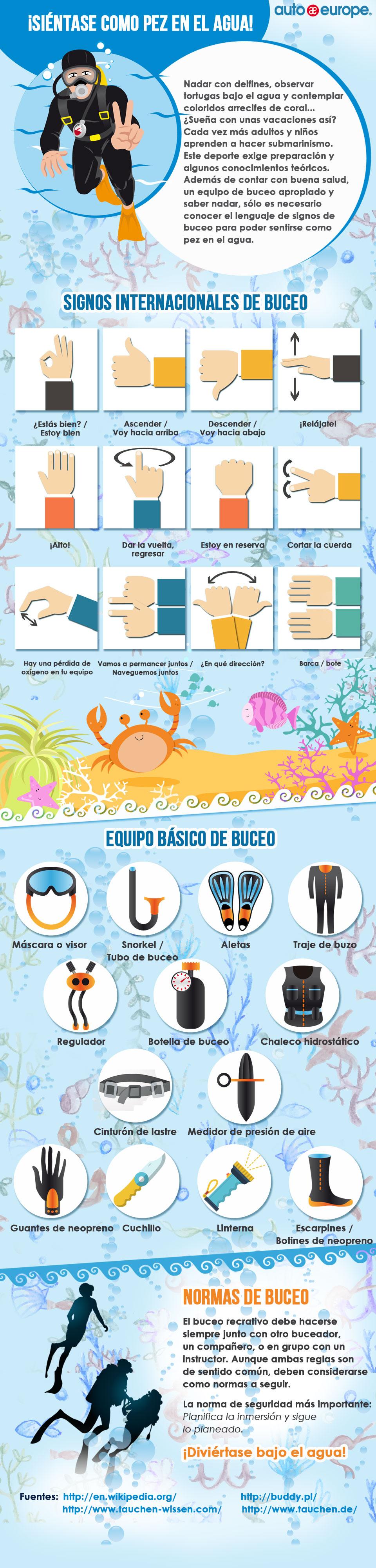 Infografía - Bucear en vacaciones