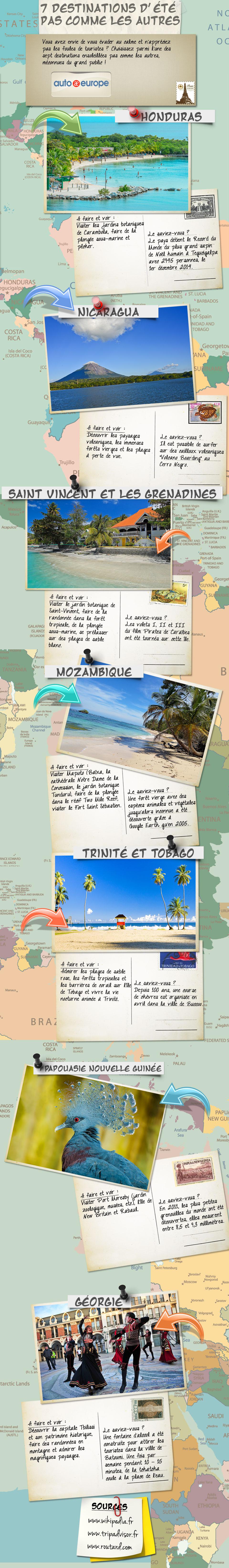 7 destinations d'été pas commes les autres | Auto Europe Infographie