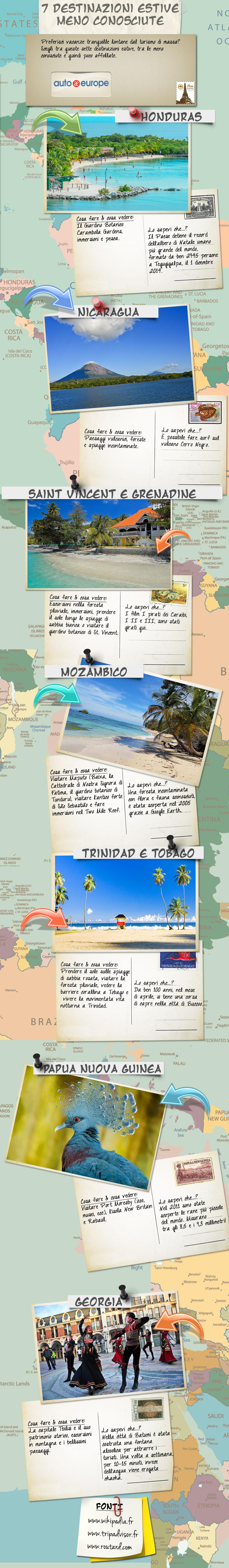 Infografica - Destinazioni estive meno conosciute