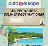 Mindre kendte sommerdestinationer | Auto Europe Infografik