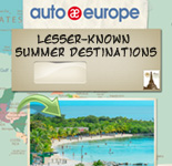 Lesser-known Summer Destinations | Auto Europe Infographic