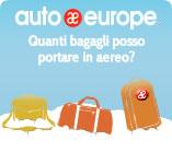 Infografica Auto Europe: limiti di peso del bagaglio a mano