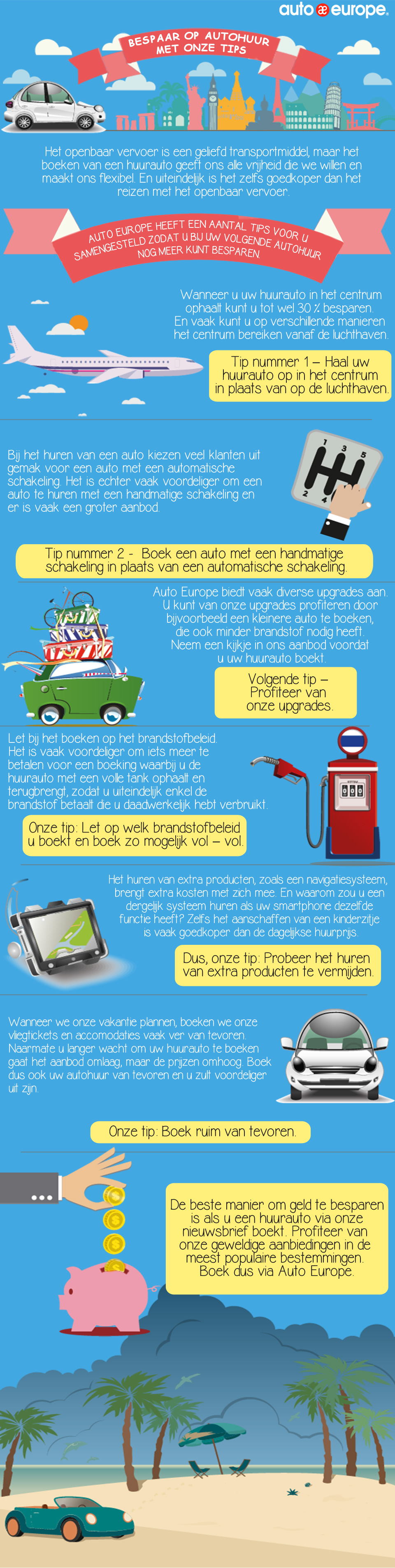 Infographic - Bespaar op autoverhuur met Auto Europe