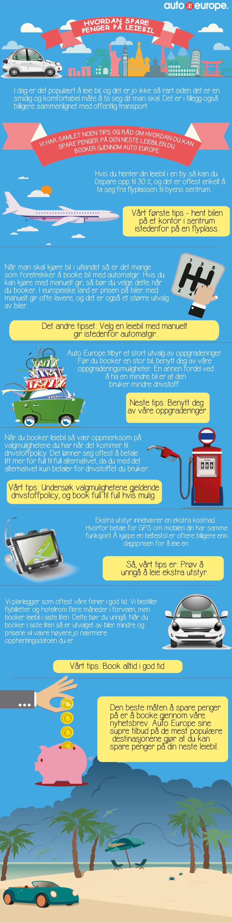 Hvordan spare penger på leiebil med Auto Europe