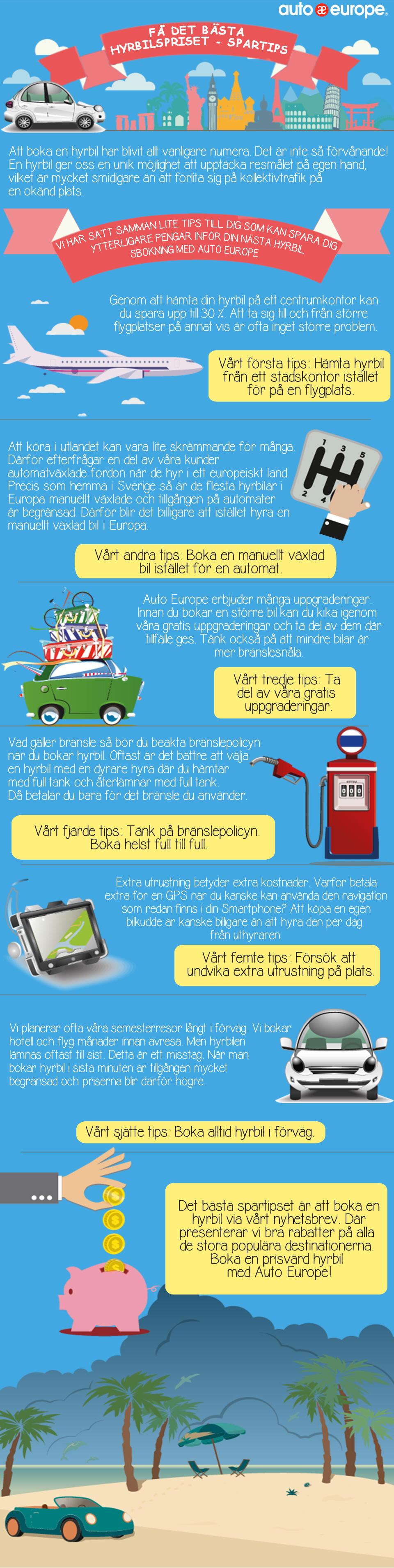 Infografik - Tips hur du kan spara på din hyrbil