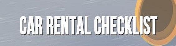 Infographic: Car Rental Checklist