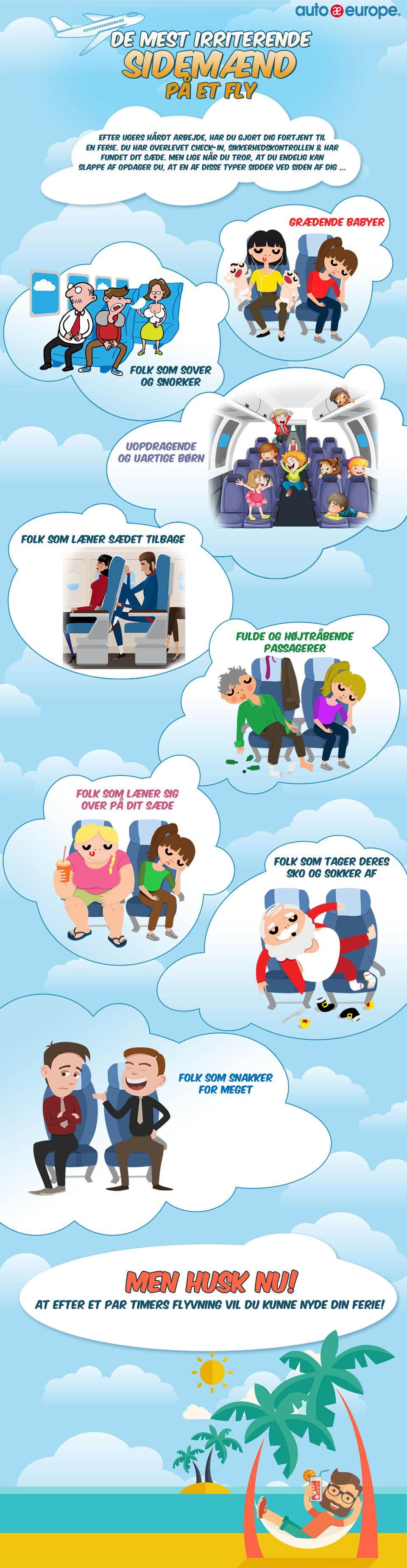 Infografik: De mest irriterende sidemakkere på flyet
