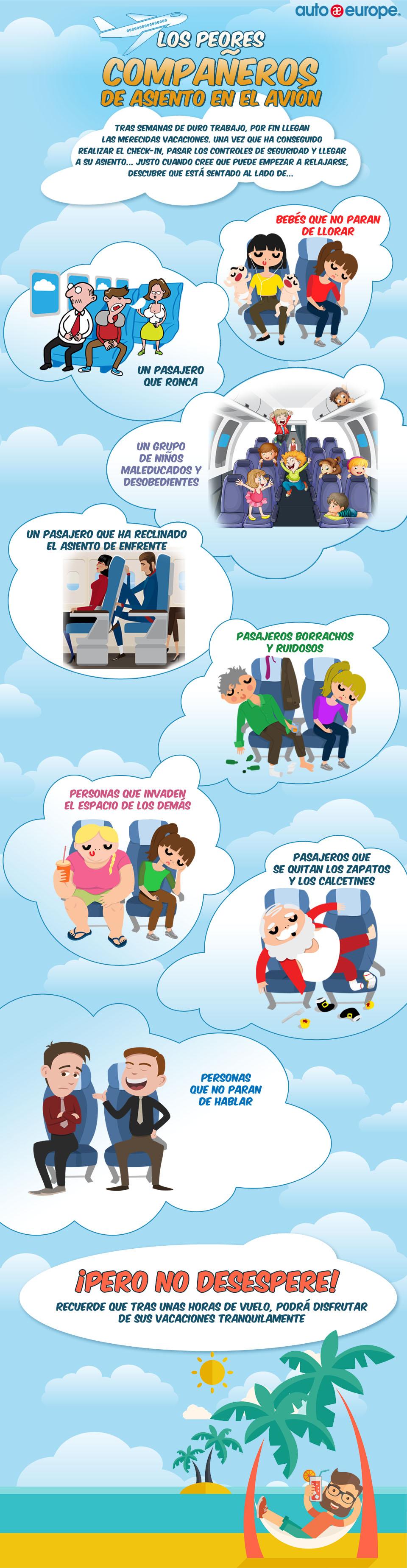 Infografía: Los peores compañeros de vuelo