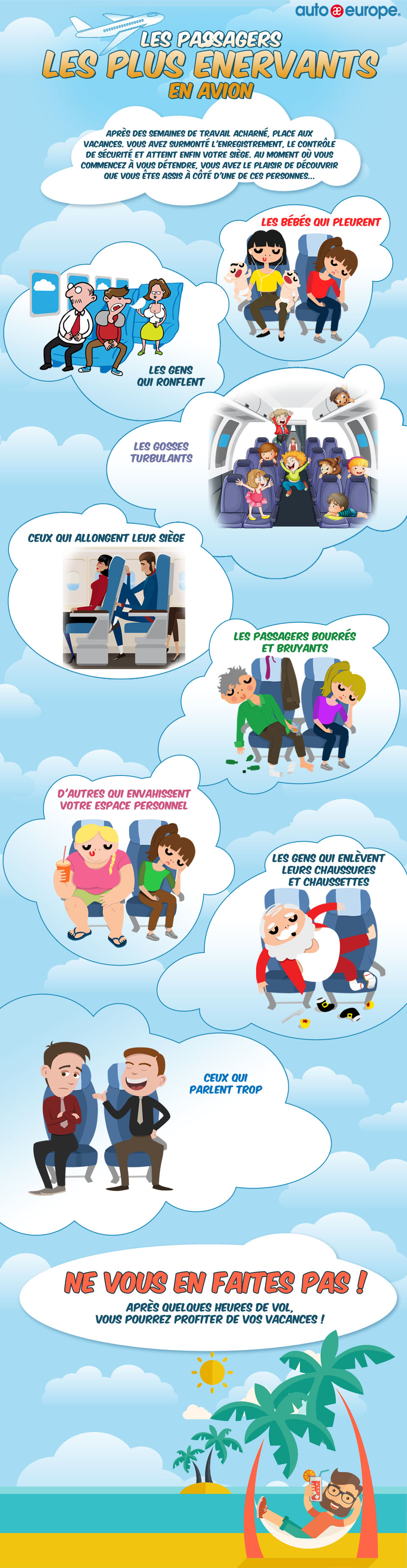 Infographie : Les pires passagers en avion