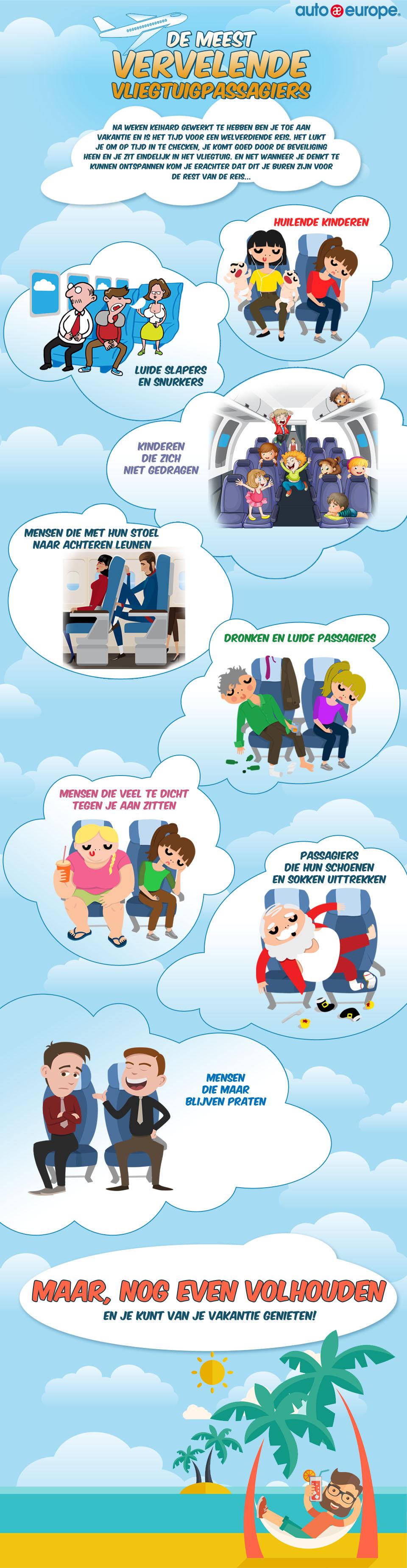 Infographic - De ergste medepassagiers