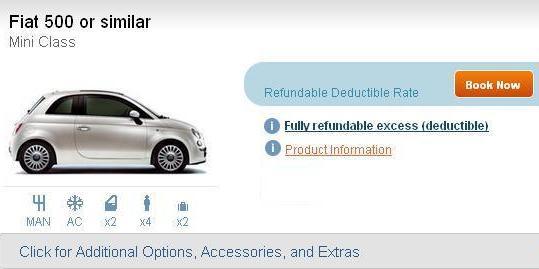 Auto Europe Excess Refund