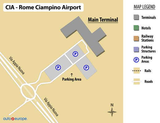 Ciampino Airport Map
